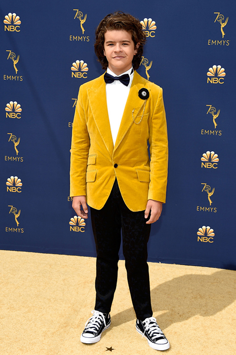 Gaten-Matarazzo-offical-in-a-mustard-velvet-coat