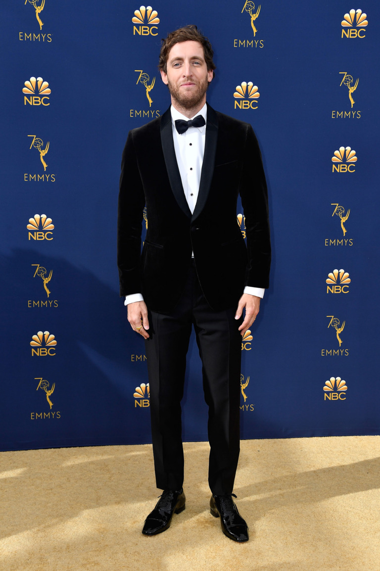 Thomas-Middleditch-offical-in-black-velvet-coat