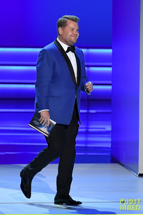 Jjimmy-kimmel-and-james-corden-present-at-the-emmys-2018-cobalt-blue-jacket-with-black-pants