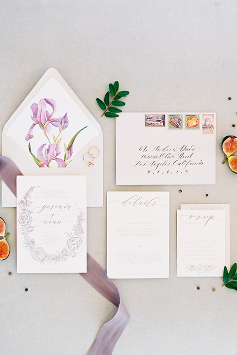 Inn-at-rancho-santa-fe-shoot-invites-invitaitons-are-white-with-rose-colored-ribbon-and-writting