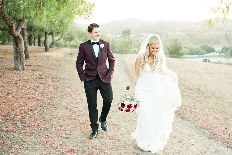 Autumn-inspired-wedding-at-coto-valley-country-club-bride-and-groom-walking