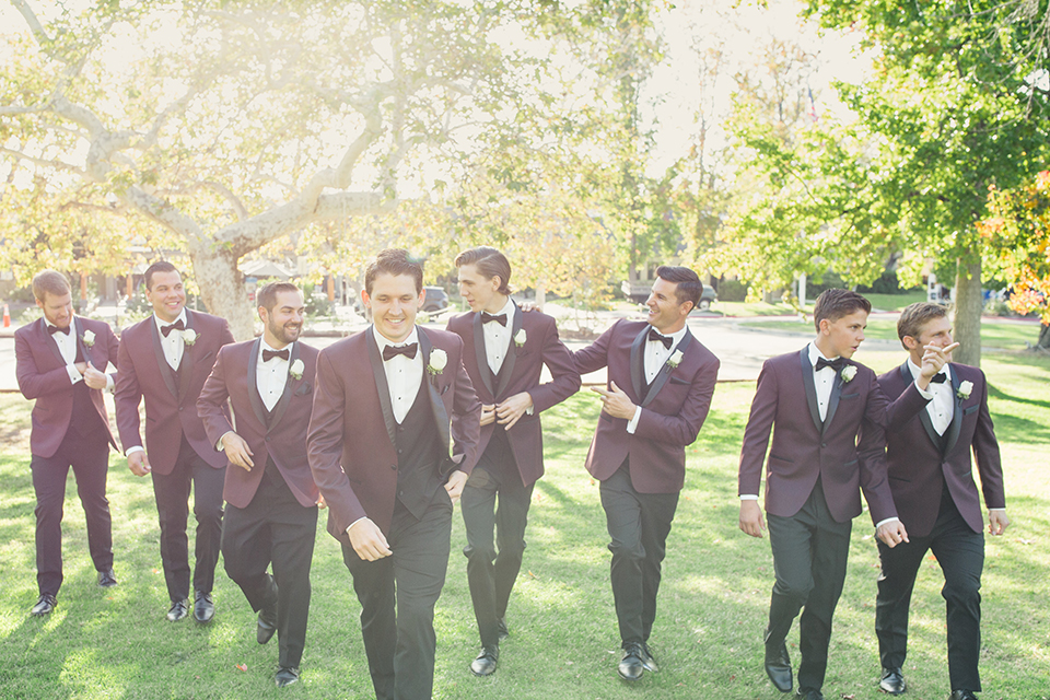 Autumn-inspired-wedding-at-coto-valley-country-club-groom-with-groomsmen-walking