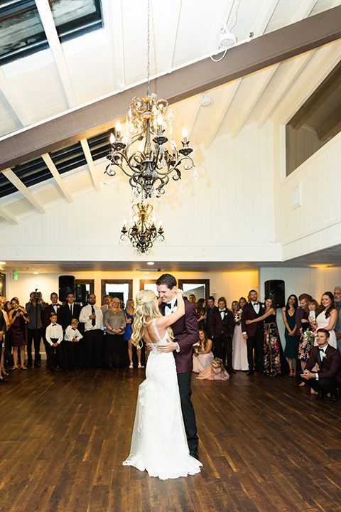Autumn-inspired-wedding-at-coto-valley-country-club-reception-bride-and-groom-first-dance