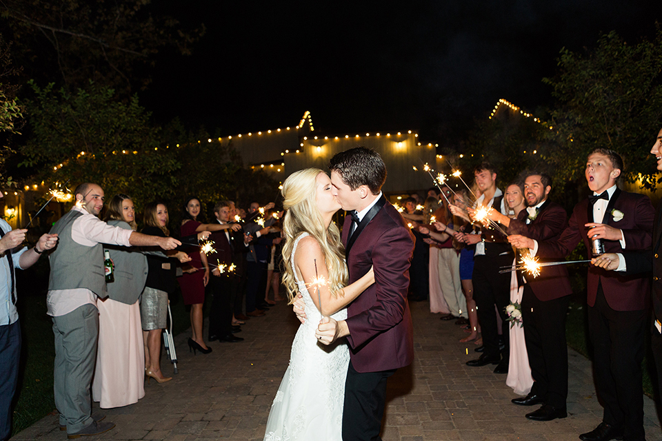 Autumn-inspired-wedding-at-coto-valley-country-club-reception-sparkler -exit
