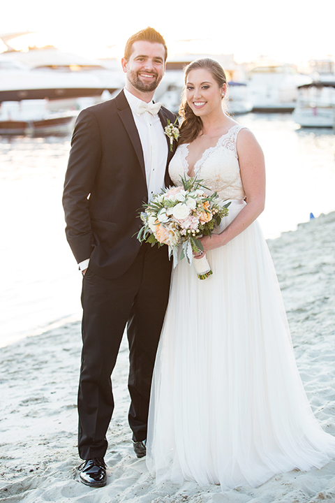 Balboa-bay-resort-wedding-bride-and-groom-on-beach