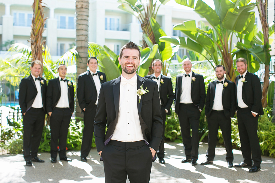 Balboa-bay-resort-wedding-groom-in-front-of-groomsmen