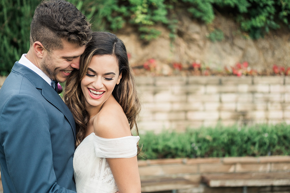 Los-angeles-wedding-shoot-bride-and-groom-laughing-smiling