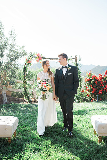 Cielo-Farms-Wedding-Couple-Walking