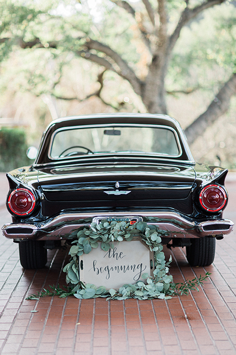 Colorful-bohemian-wedding-shoot-car