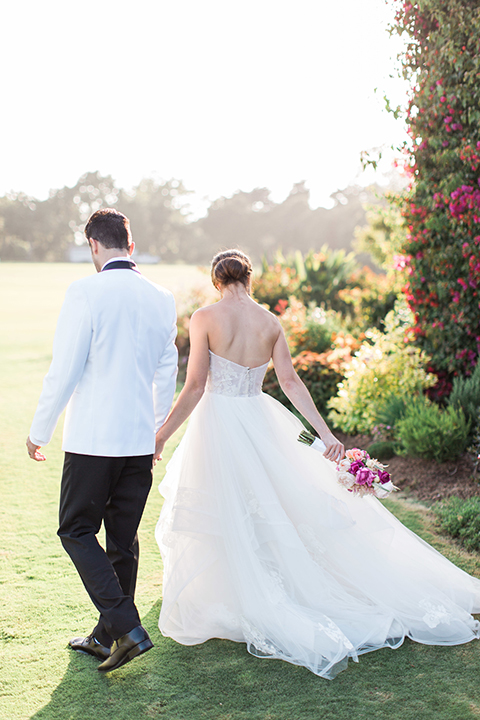 Santa-barbara-outdoor-wedding-bride-and-groom-walking