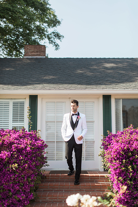 Santa-barbara-outdoor-wedding-groom-white-tuxedo