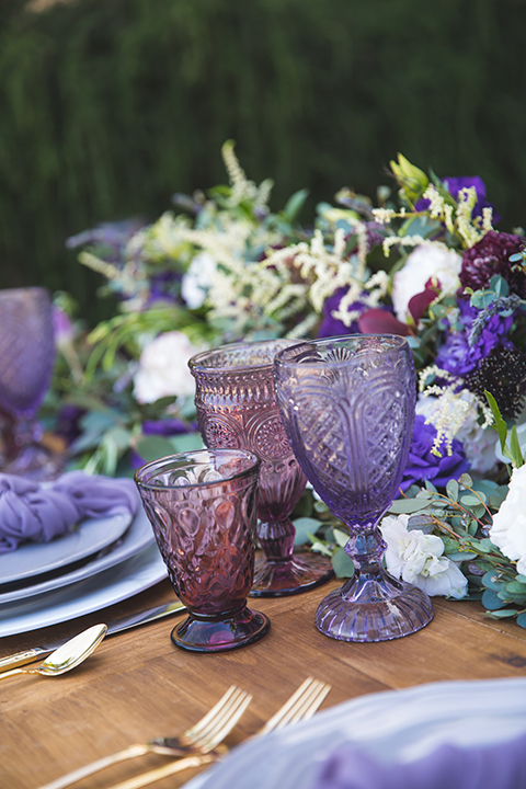 Santa-barbara-wedding-shoot-at-cottonwood-canyon-winery-table-set-up-with-glassware