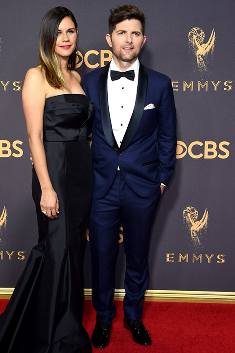 2017-emmys-adam-scott-blue-tuxedo-with-black-bow-tie