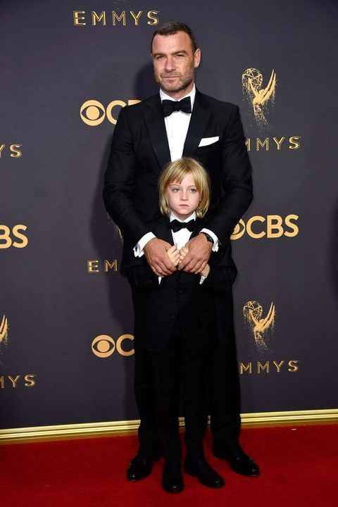 2017-emmys-black-tuxedo-with-black-bow-tie-father-and-son