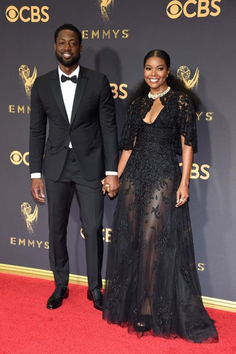 2017-emmys-dwanye-wade-black-tuxedo-with-black-bow-tie