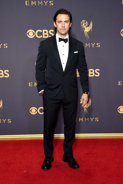 2017-emmys-milo-ventimiglia-black-tuxedo-with-black-bow-tie