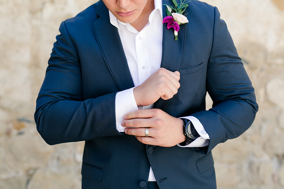 San-juan-capistrano-wedding-shoot-at-franciscan-gardens-groom-blue-suit