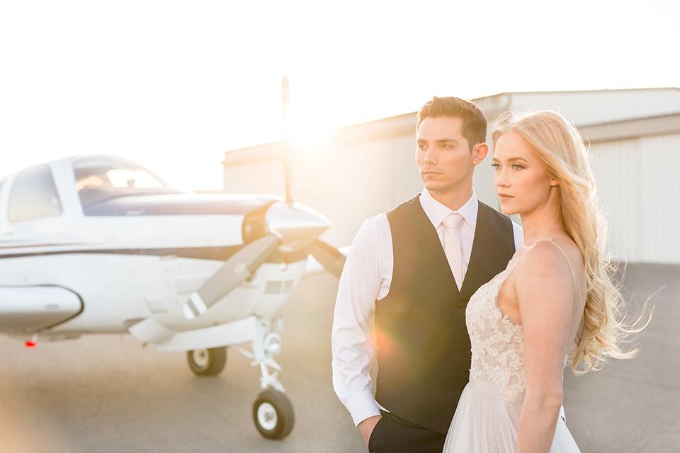 Orange-county-wedding-at-fullerton-hangers-bride-and-groom-standing