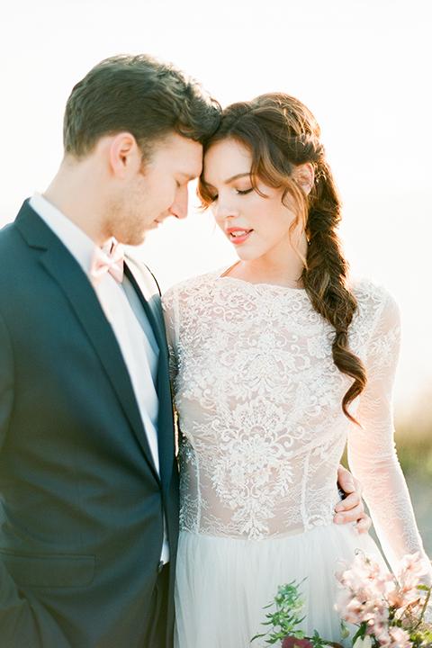 San-diego-outdoor-wedding-shoot-hawaiian-inspiration-bride-and-groom-close-up