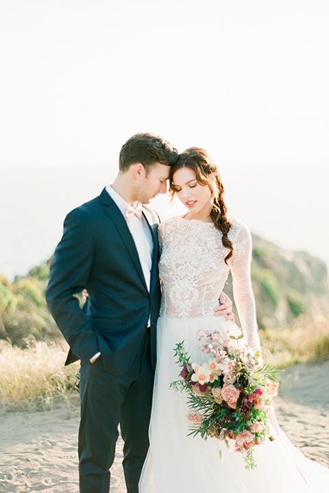 San-diego-outdoor-wedding-shoot-hawaiian-inspiration-bride-and-groom-hugging-close-up