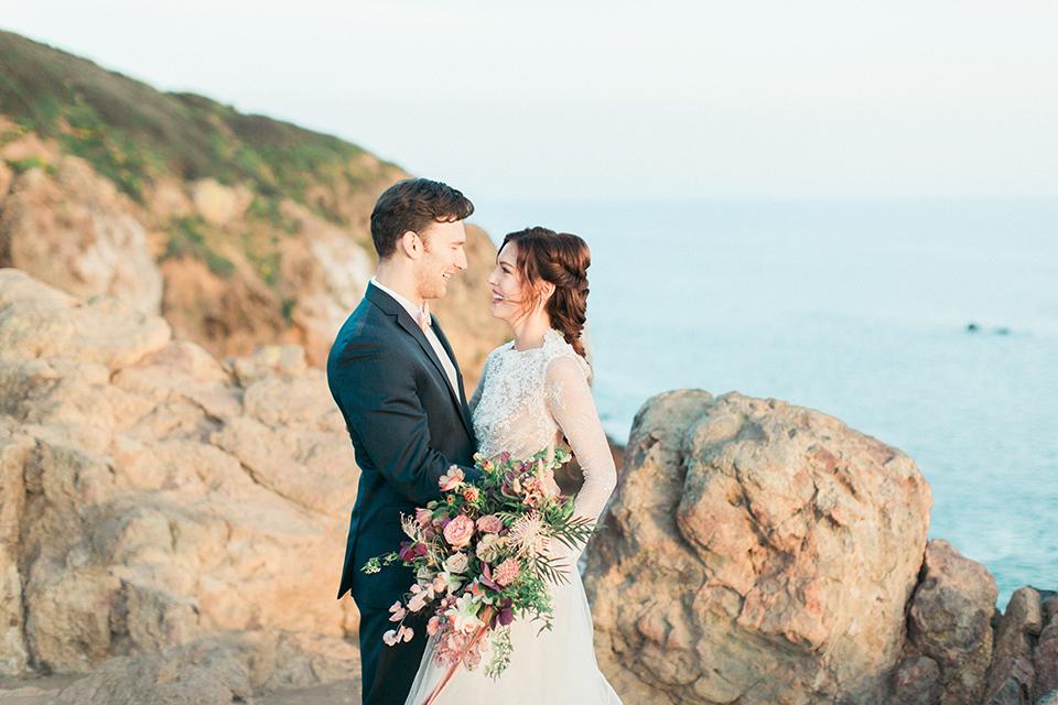San-diego-outdoor-wedding-shoot-hawaiian-inspiration-bride-and-groom-hugging