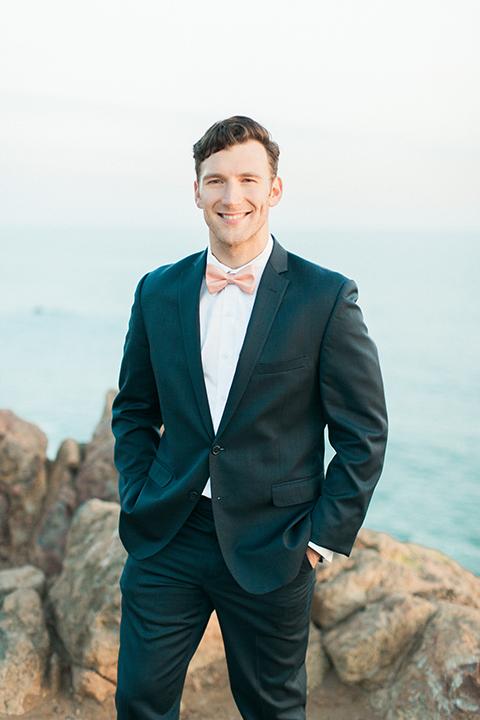 San-diego-outdoor-wedding-shoot-hawaiian-inspiration-groom-navy-suit