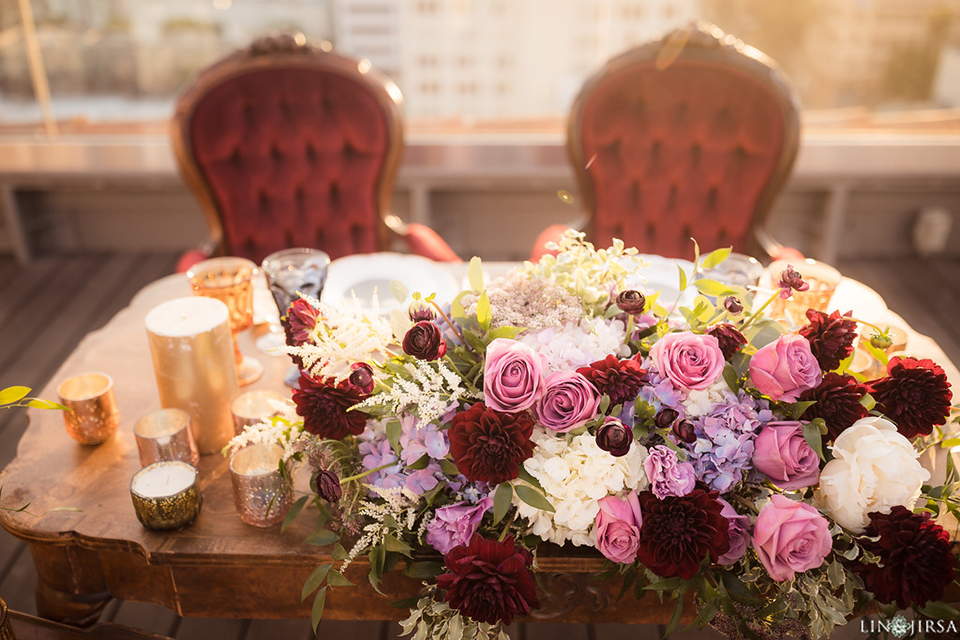 Los-angeles-wedding-shoot-hollywood-roosevelt-table-set-up-sweetheart-table