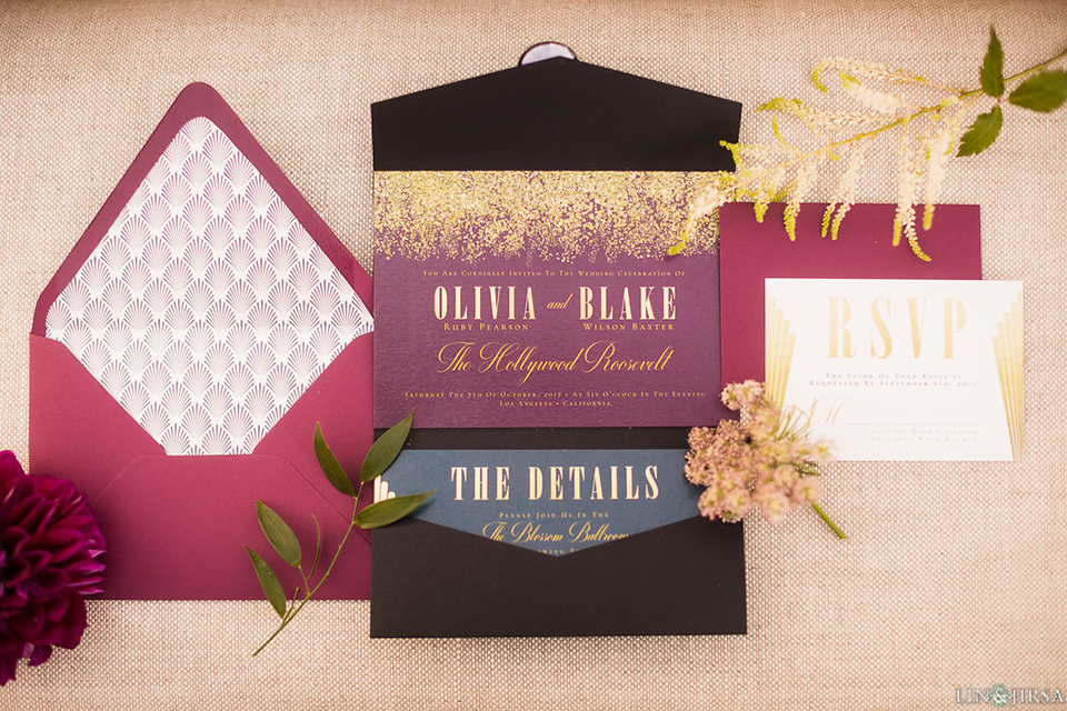 Los-angeles-wedding-shoot-hollywood-roosevelt-wedding-invitations