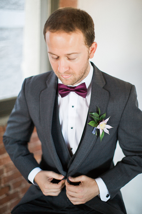 Long-beach-wedding-shoot-at-howl-groom-grey-suit-close-up