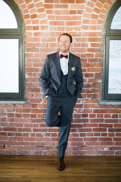 Long-beach-wedding-shoot-at-howl-groom-grey-suit