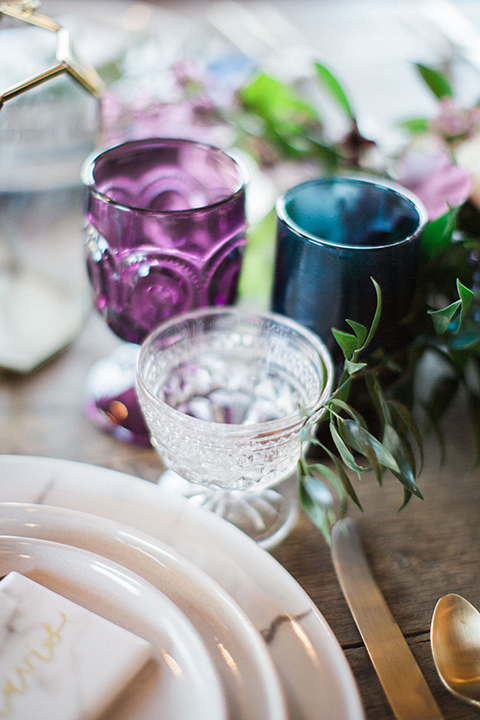 Long-beach-wedding-shoot-at-howl-table-set-up-with-glassware