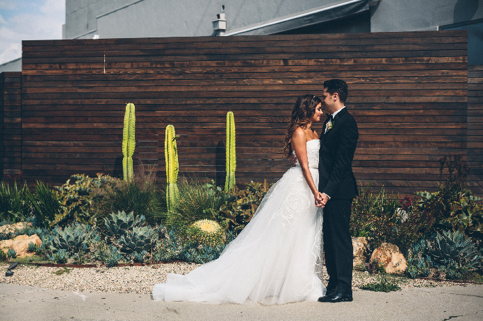 bride-and-groom-outdoor-wedding-succulent-cactus-rustic