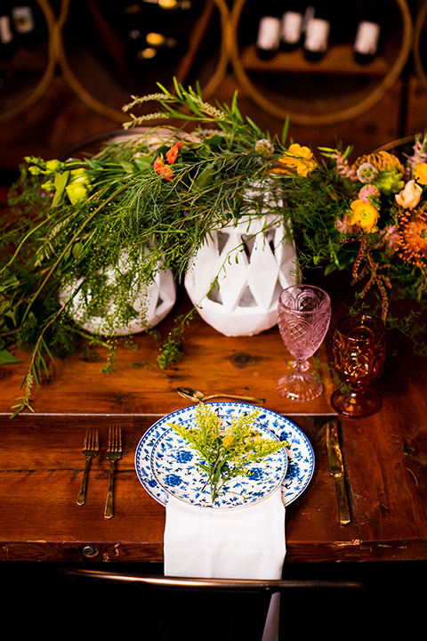 Lesbian-wedding-shoot-at-madera-kitchen-table-set-up-with-place-setting