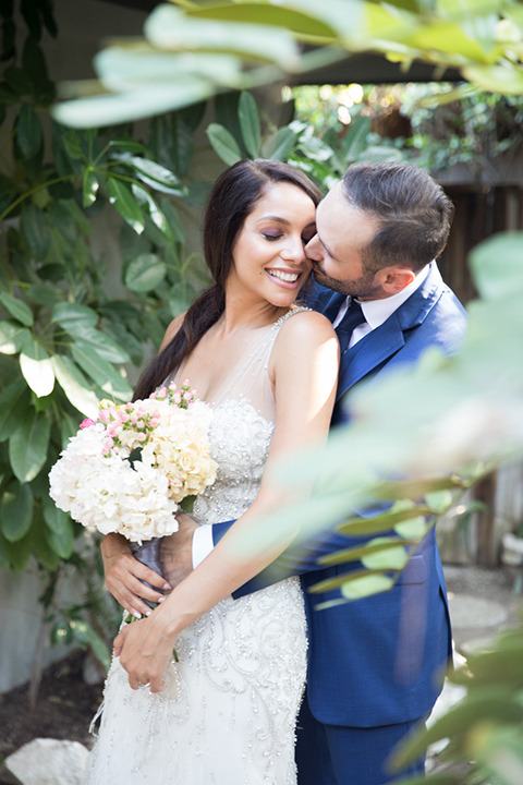 Los-angeles-wedding-shoot-bride-and-groom-hugging-and-kissing