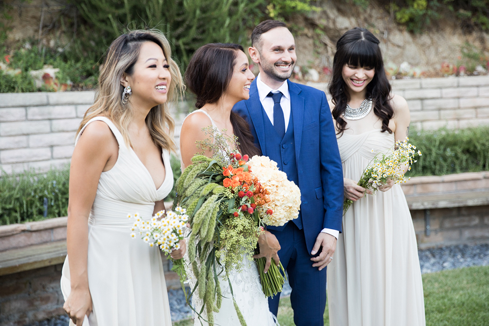 Los-angeles-wedding-shoot-bride-and-groom-with-bridesmaids