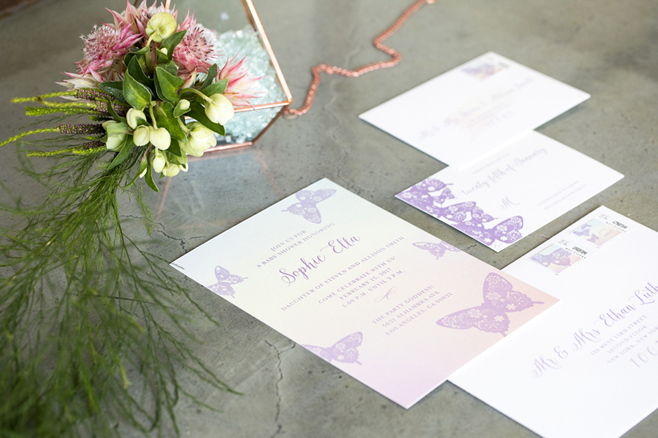 Los Angeles Wedding Invitations: Summer Garden Wedding At Hudson Loft