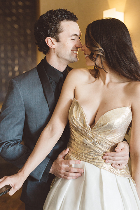 Los-angeles-wedding-shoot-in-santa-monica-bride-and-groom-smiling-close-up