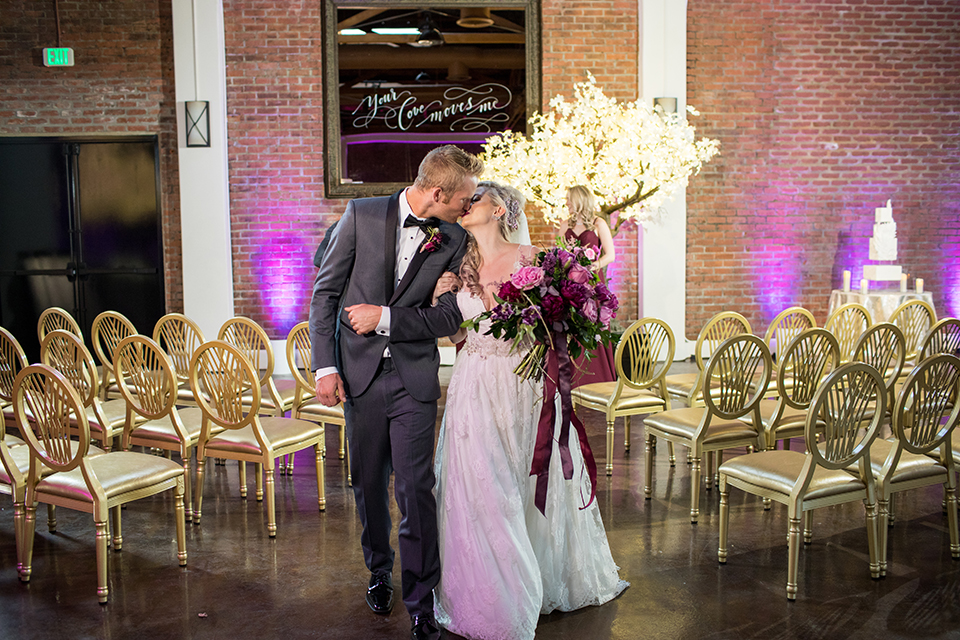 Los-angeles-wedding-at-the-p-bride-and-groom-ceremony-kissing