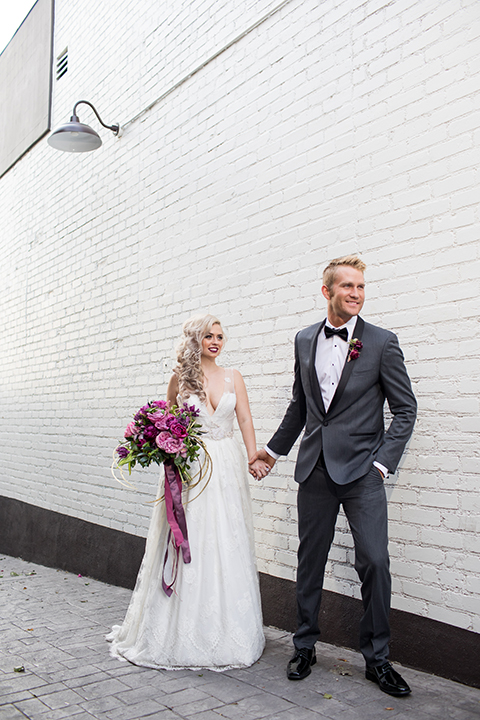 Los-angeles-wedding-at-the-p-bride-and-groom-holding-hands