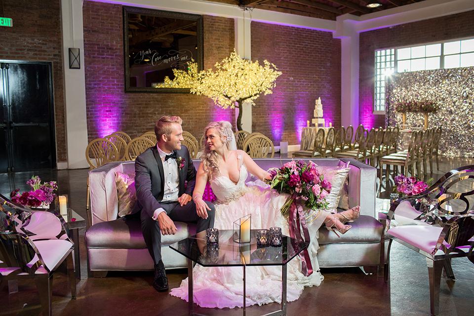 Los-angeles-wedding-at-the-p-bride-and-groom-sitting-on-the-couch