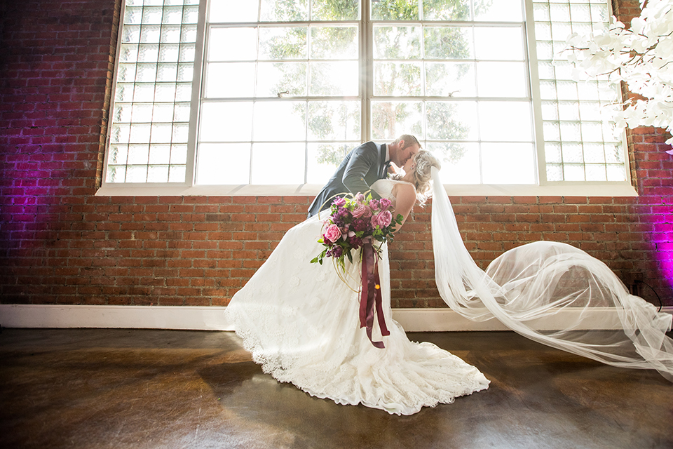 Los-angeles-wedding-at-the-p-bride-and-groom-standing-kissing