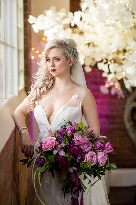 Los-angeles-wedding-at-the-p-bride-holding-bouquet-close-up