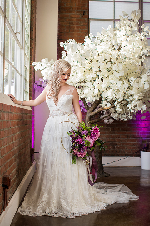 Los-angeles-wedding-at-the-p-bride-holding-bouquet