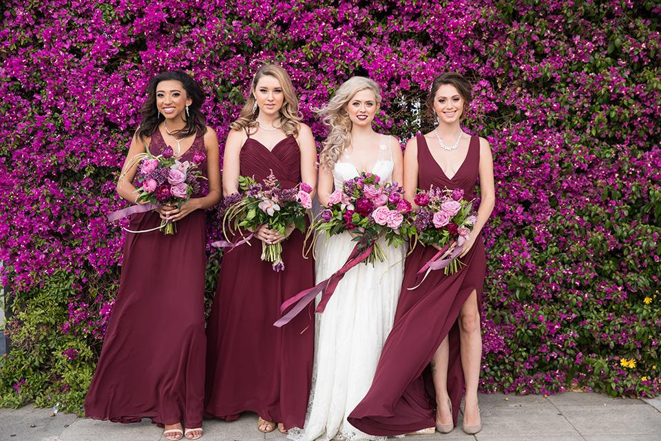 Los-angeles-wedding-at-the-p-bride-with-bridesmaids