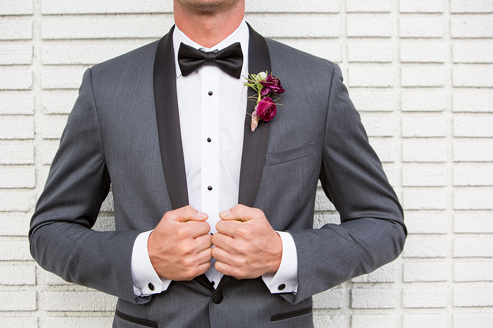 Los-angeles-wedding-at-the-p-groom-charcoal-tuxedo-close-up