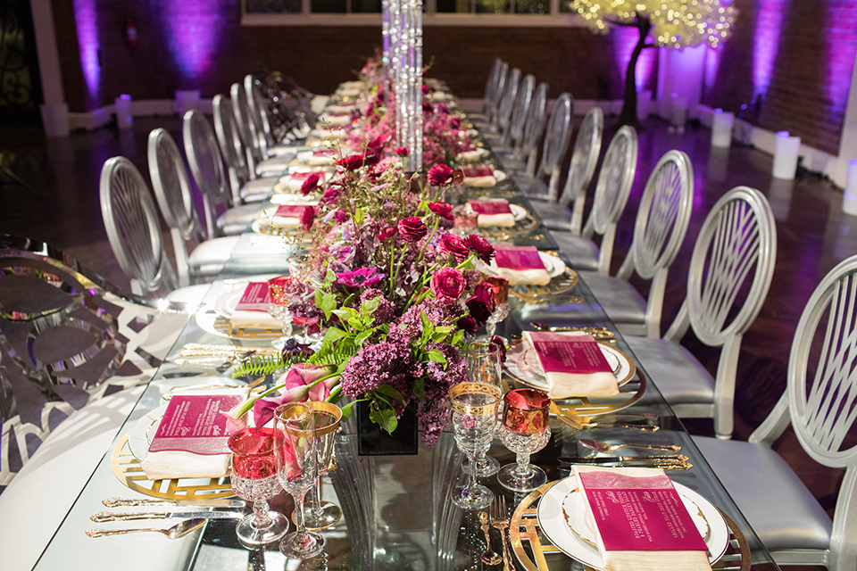 Los-angeles-wedding-at-the-p-table-set-up-with-flowers-and-chairs