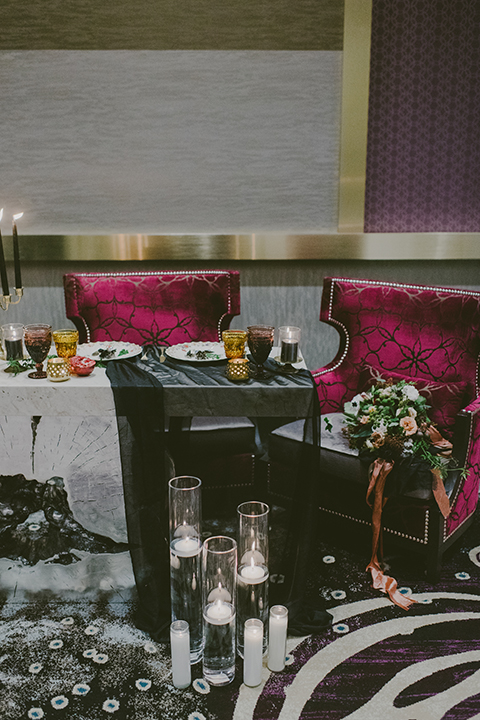 San-diego-outdoor-wedding-shoot-at-viejas-casino-and-resort-reception-table-set-up-with-flower-decor-and-chairs