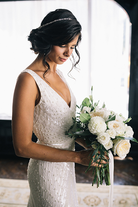Los-angeles-wedding-at-the-majestic-bride-holding-bouquet-close-up