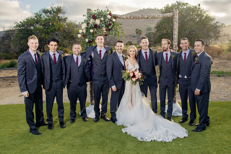 Orange-county-wedding-at-the-hamilton-oaks-winery-bride-and-groom-with-groomsmen