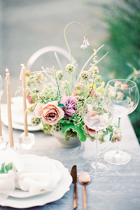 French-inspired-vineyard-wedding-table-set-up-with-wine-glasses